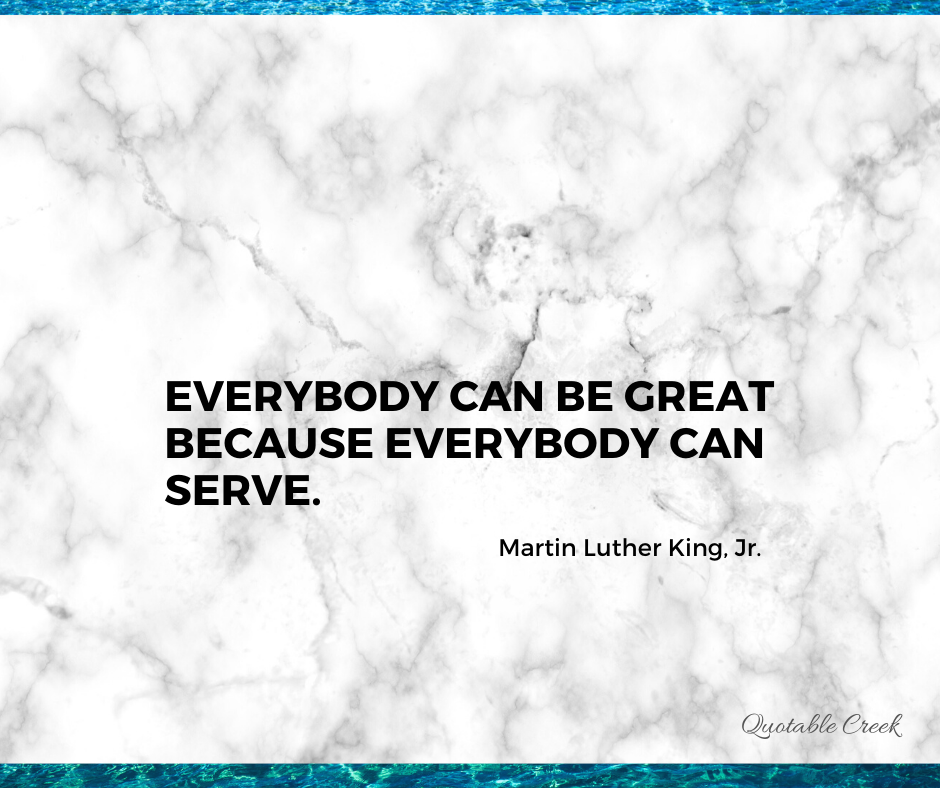 everybody can serve